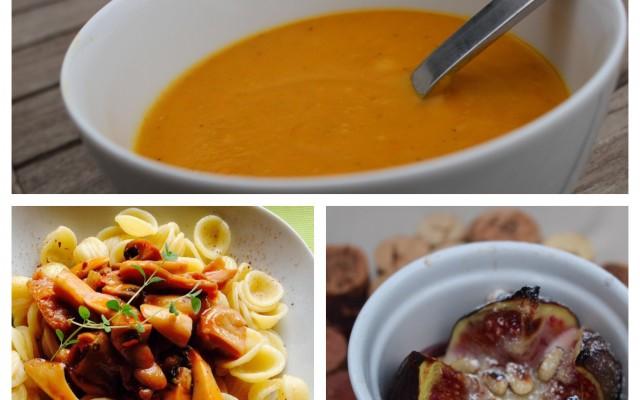 Veganes Herbstmenü für Gäste
