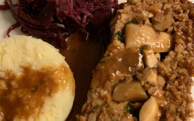 Vegane Weihnachtspastete #Weihnachtsbraten Nut-Roast